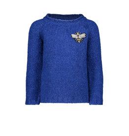 Like Flo Like Flo Girls Heavy Knitted Kobalt Sweater-Cobalt