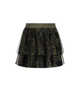 Like Flo Like Flo Girls Mesh Skirt-Black