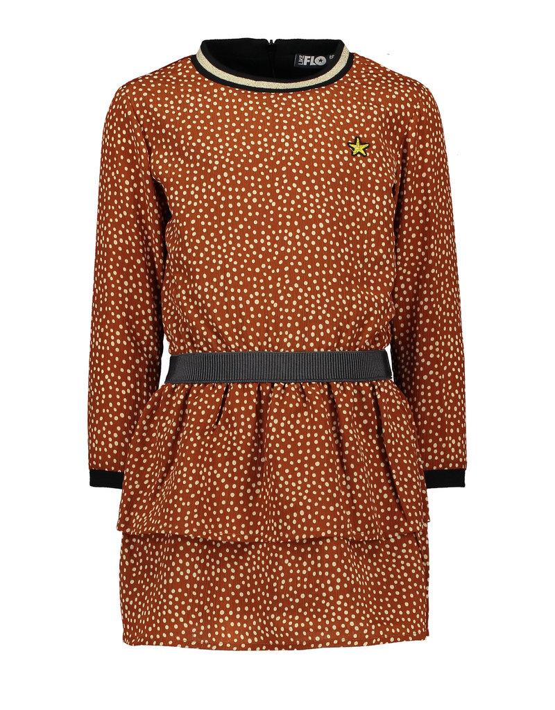 Like Flo Like Flo Girls AO Cognac Dot Dress-Cognac