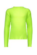 B.Nosy B.Nosy Girls Rib Shirt With Coll-Lime
