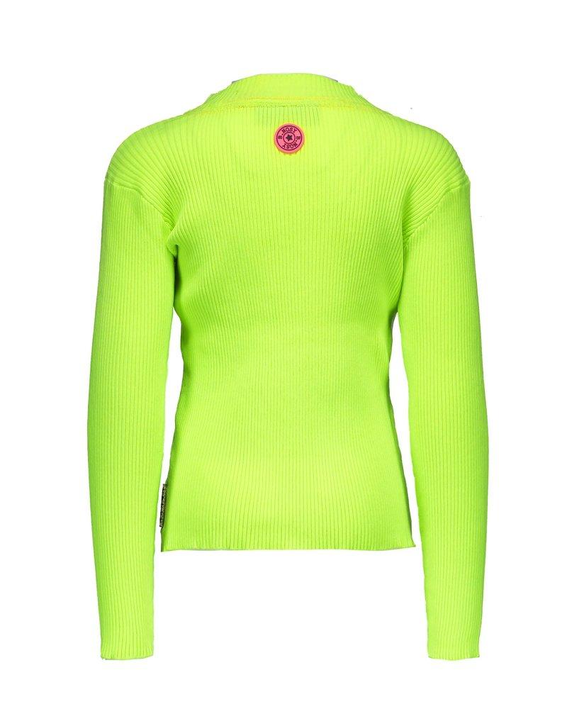B.Nosy B.Nosy Girls Rib Shirt With Coll-Lime
