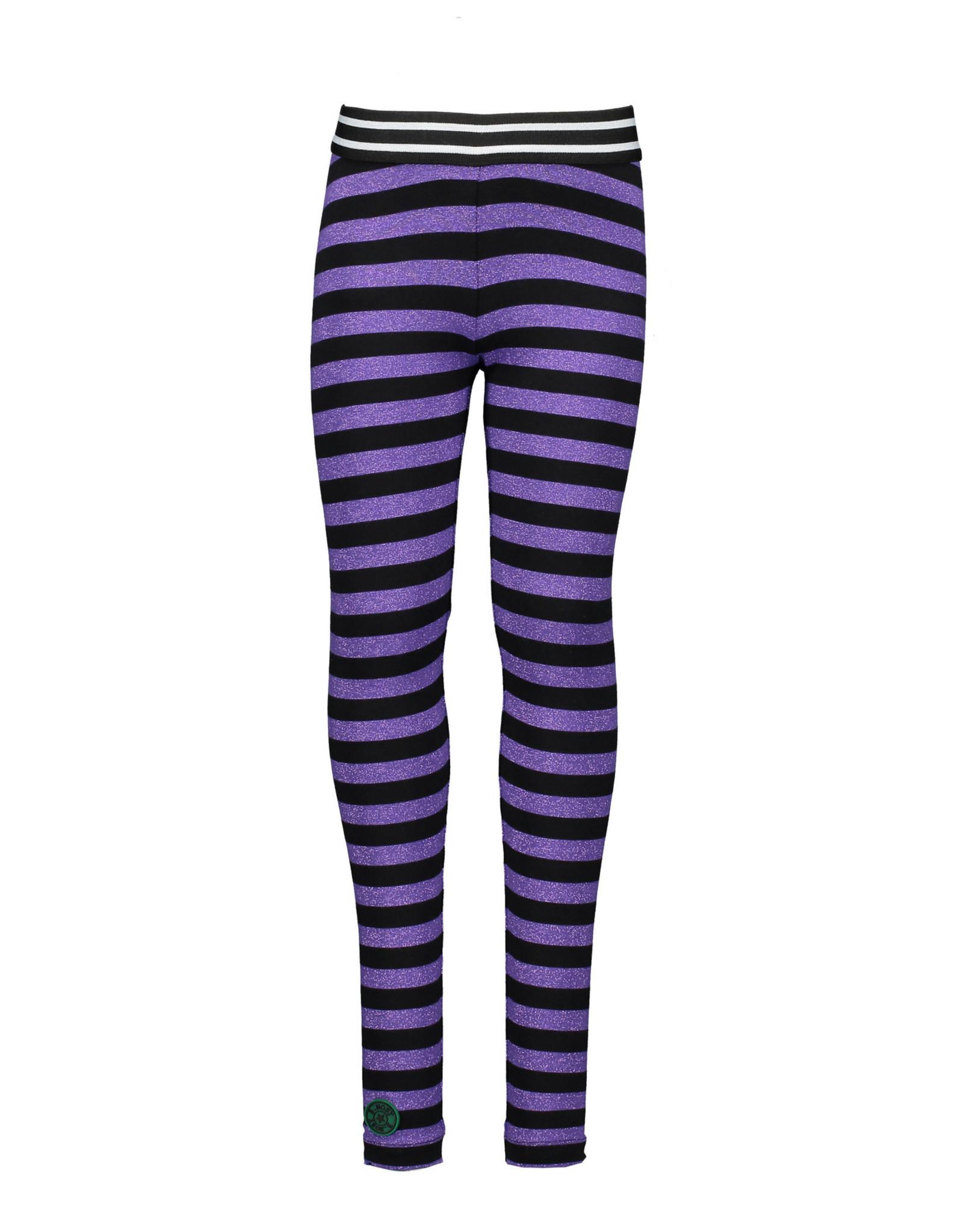 B.Nosy B.Nosy Girls Stripe Legging -Grape Purple