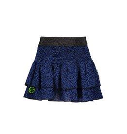 B.Nosy B.Nosy Girls 2Layer Woven Skirt-Blue Panther