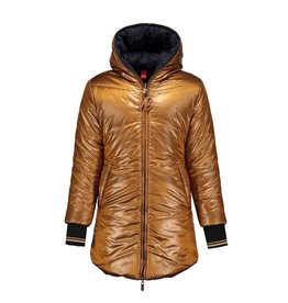 Moodstreet NoBell Buzz Long Reversible Jacket Bronze