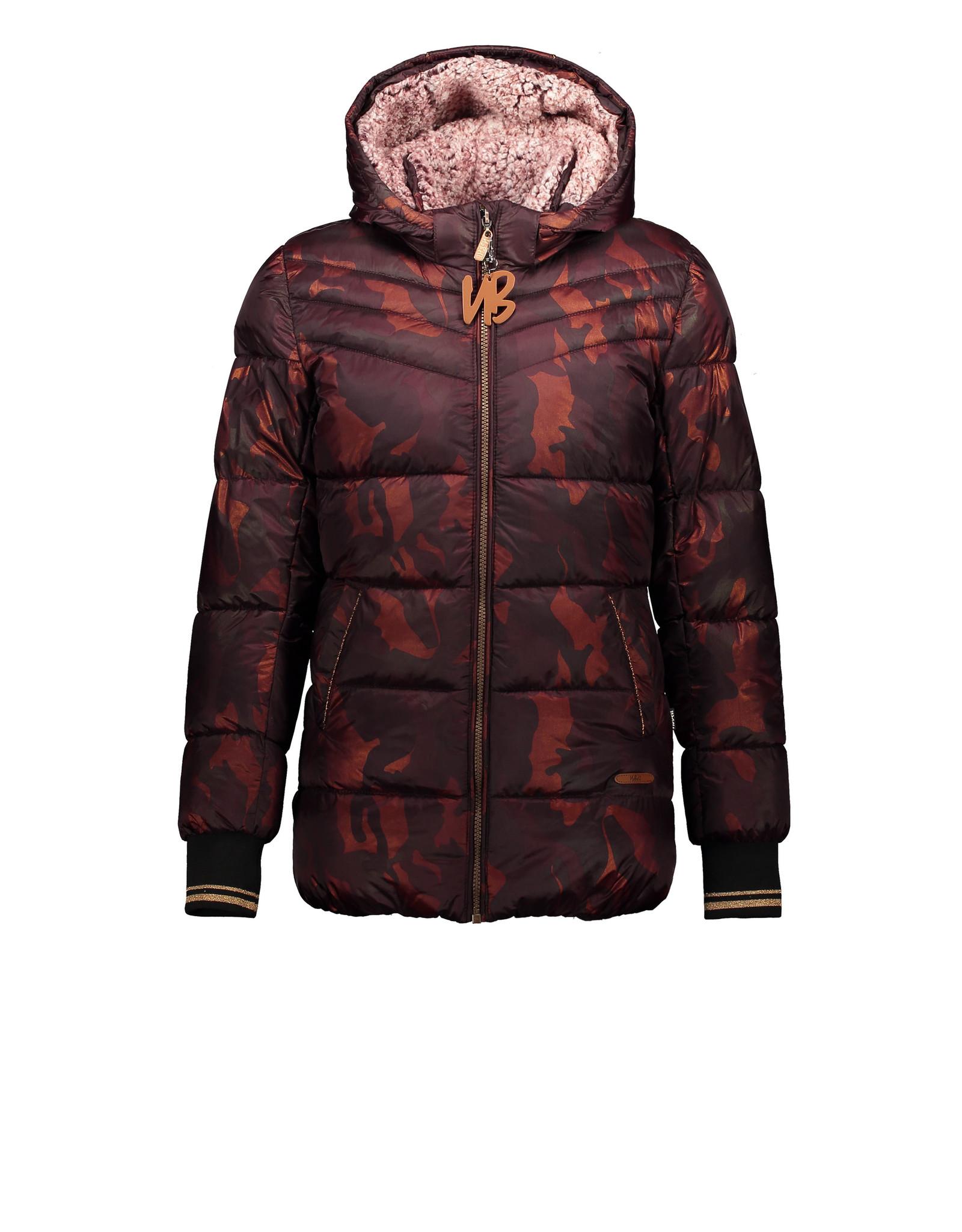 Moodstreet NoBell Babe half long stepped Hooded Jacket Antracite