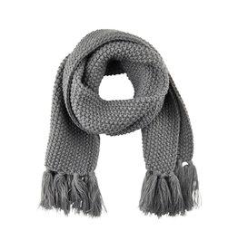 Creamie Creamie Scarf Pearl Knit- Dark Grey Melange