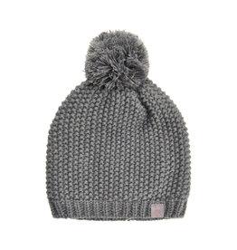 Creamie Creamie Hat Pearl Knit-Dark Grey Melange