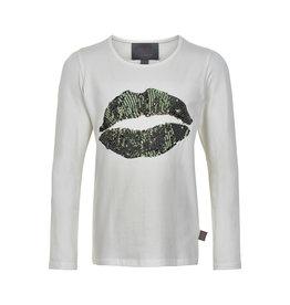 Creamie Creamie T-Shirt Lips Sequins LS-Bistro Green