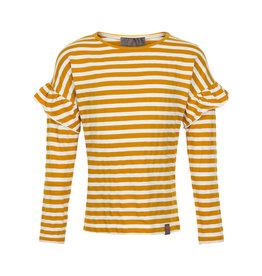 Creamie Creamie T-Shirt Stripe LS- Harvest Gold
