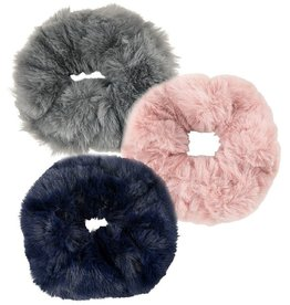 Creamie Creamie Hairties Faux Fur-3 Pack-Rose Smoke