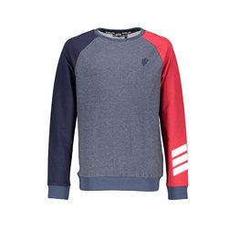 Bellaire Bellaire  Kare Melee Raglan Sweater-Navy Blazer