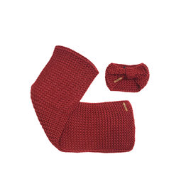 NoBell NoBell-Lennie Knitted Scarf And Head Band-Mahogany