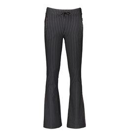 NoBell NoBell-Sahara Pinstripe Flared Pants-Antracite