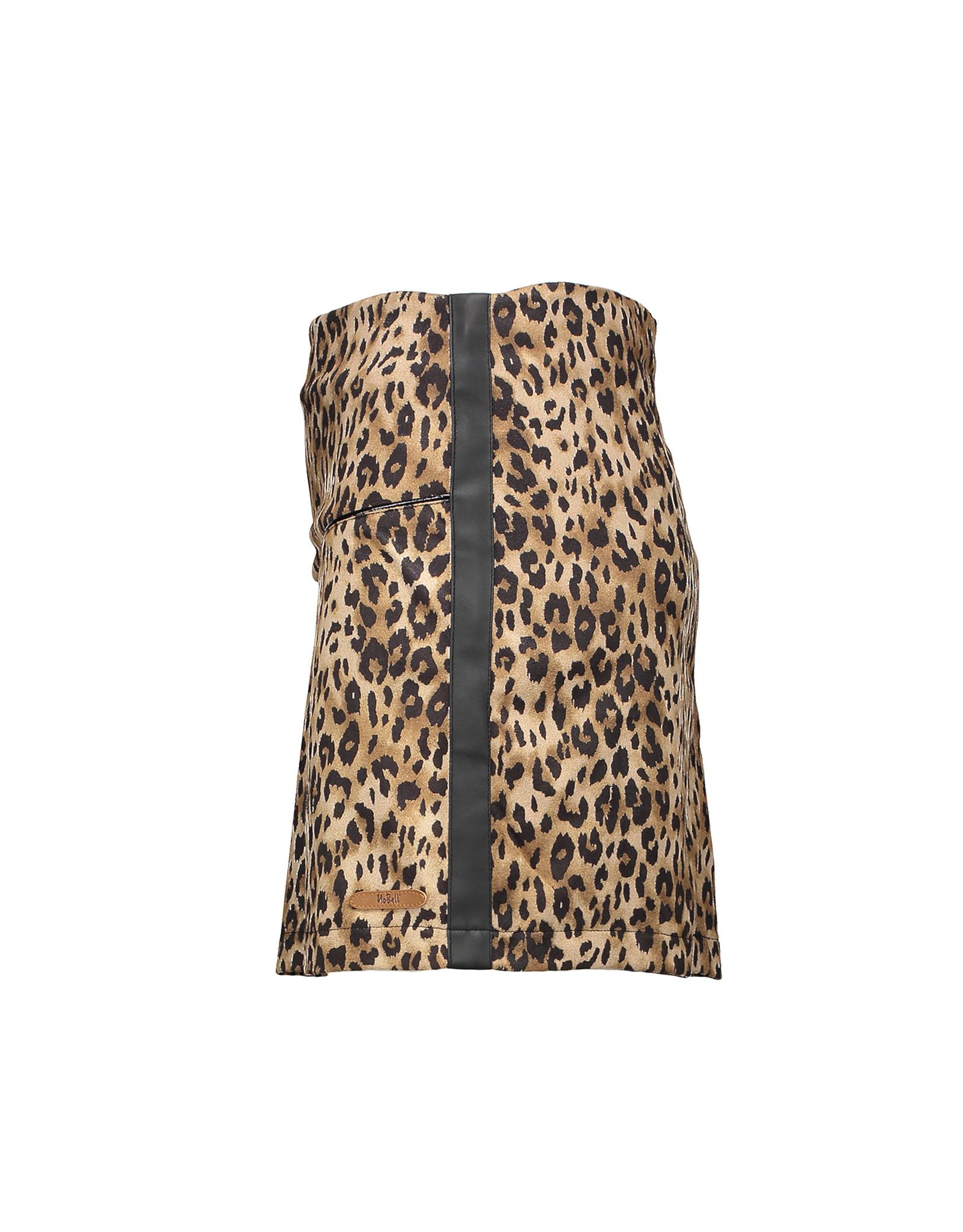 NoBell NoBell-Nisha Animal Fur A- Line Skirt-Coffee