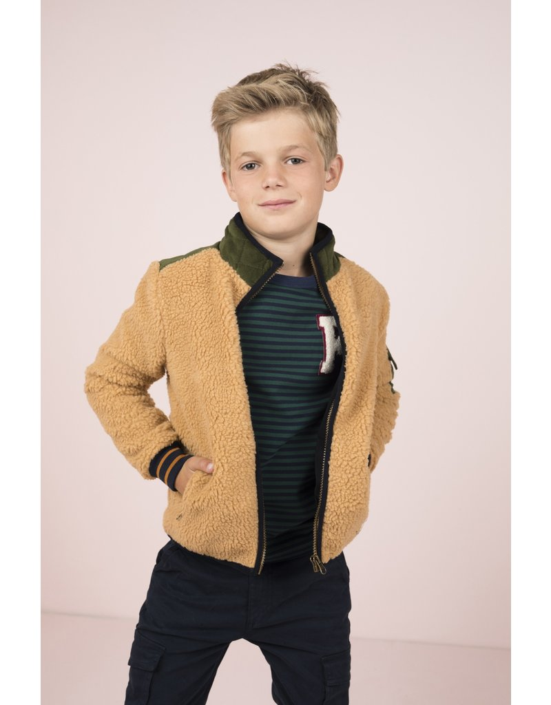 Like Flo Like Flo Boys Teddy/Nylon Jacket Sand