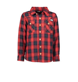 Like Flo Like Flo Boys Check Blouse-Red