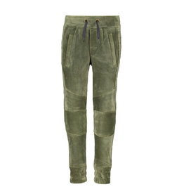 Like Flo Like Flo Boys Velvet Pants-Moss