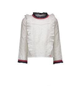 NONO NONO Tessa embroidered blouse ruffles Snow White