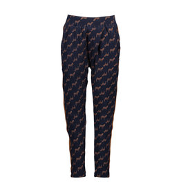 NONO NONO Samma zebra aop pants with pleats at front Navy Blazer