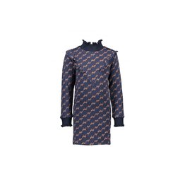 NONO NONO Maddy aop Is dress with knitted ruffled cuffs Navy Blazer