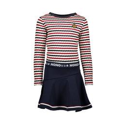 NONO NONO ManuB striped Is dress with solid ruffle skirt Snow White
