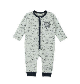 Little Bampidano LB-New Born Overall LS-AOP Criss Cross-White