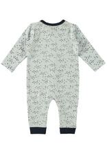 Little Bampidano LB-New Born Overall LS-AOP Criss Cross-White
