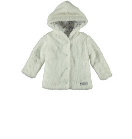 Little Bampidano LB-New born Teddy Hooded Jacket-White