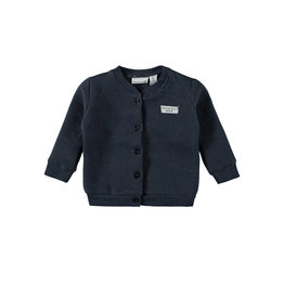 Little Bampidano LB-New Born Stars Double Fabric Cardigan-Navy