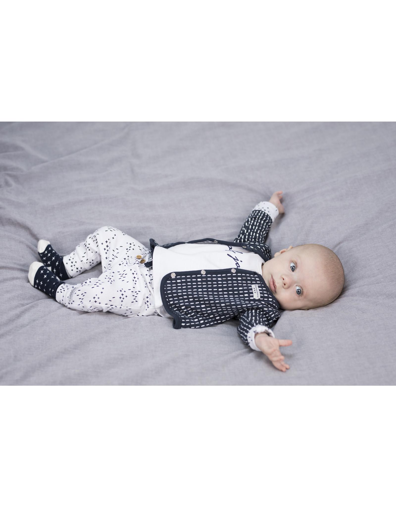 Little Bampidano LB- New Born Revers. AOP Stripes-Criss Cross- Navy Allover