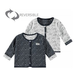 Little Bampidano LB- New Born Revers. AOP Stripes-Criss Cross- Navy Allover