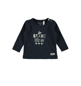 Little Bampidano LB- New Born T-shirt-LS BE BRAVE LITTLE ONE-Navy
