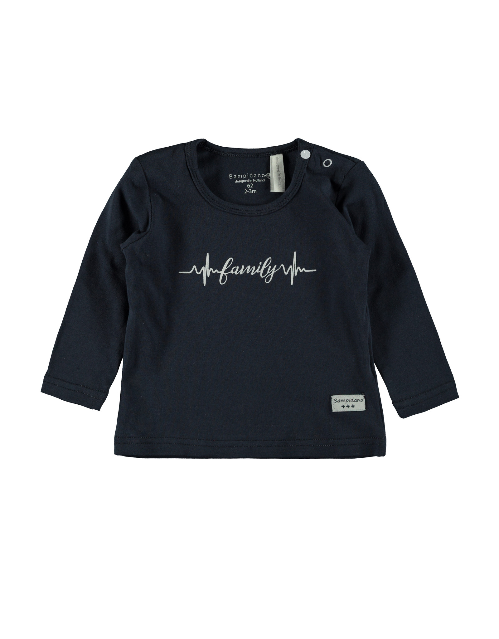 Little Bampidano LB-New Born T-Shirt LS FAMILY-Navy