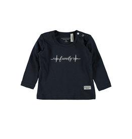 Little Bampidano LB-New Born T-Shirt LS FAMILY-Navy