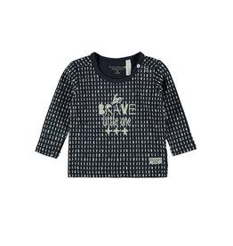 Little Bampidano LB-New Born T-Shirt LS AOP-BE BRAVE LITTLE ONE-Navy Allover
