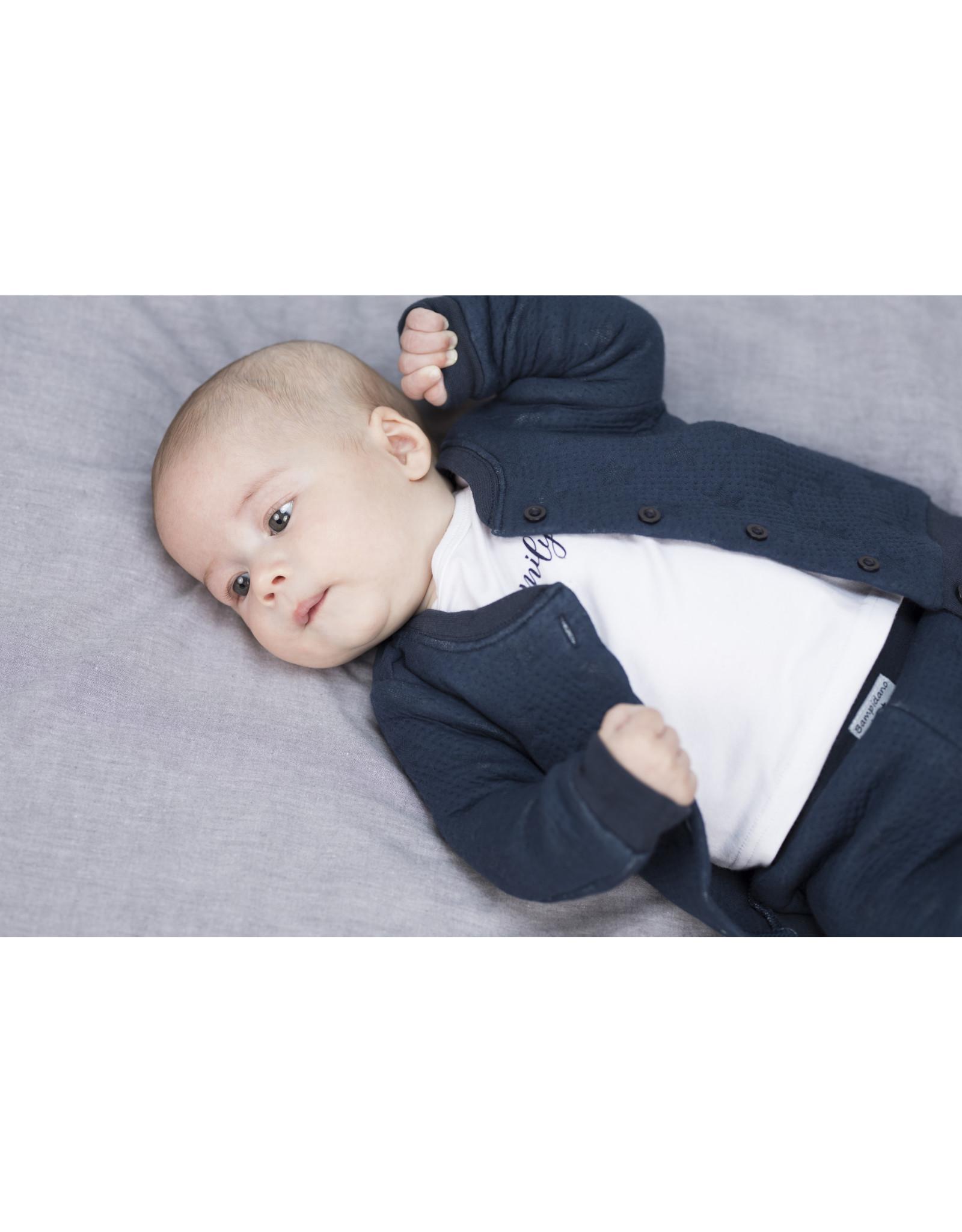Little Bampidano LB-New Born T-Shirt LS Multi AO+ Plain FAMILY-White