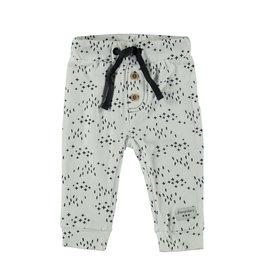 Little Bampidano LB-New Born Slim Trousers -White AOP