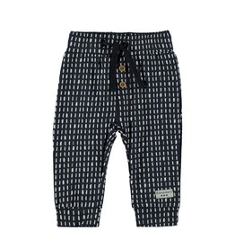 Little Bampidano LB- New Born Slim Trousers-Navy Allover