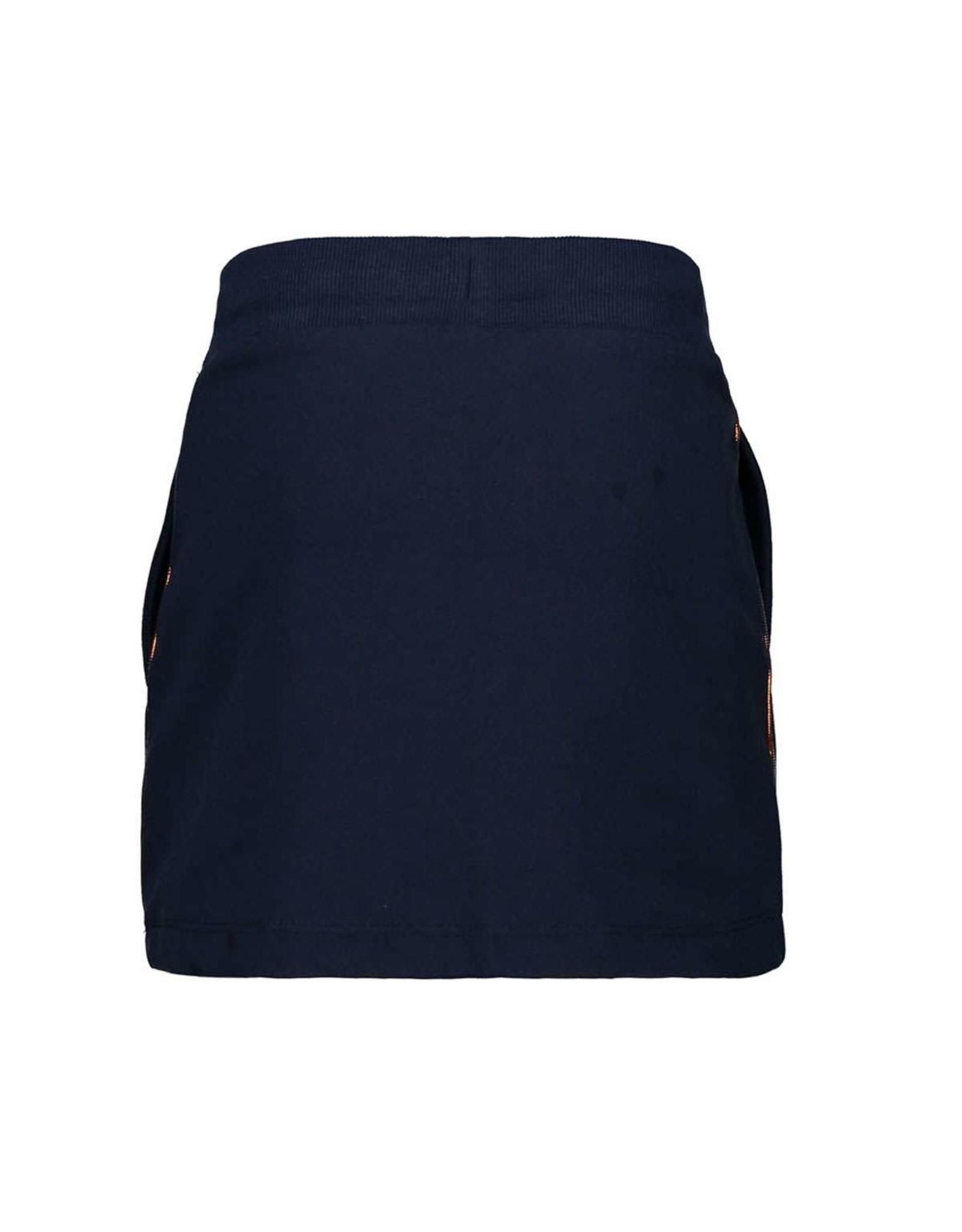Moodstreet Moodstreet-MT Sweat Skirt-Navy