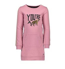 Moodstreet Moodstreet-MT Sweat Dress-Old Pink