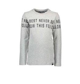 Moodstreet Moodstreet-MT T-Shirt Chest And Sleeveprint-Light Grey
