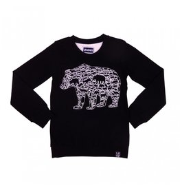 Legends Legends22 Sweater Black bear Black and White