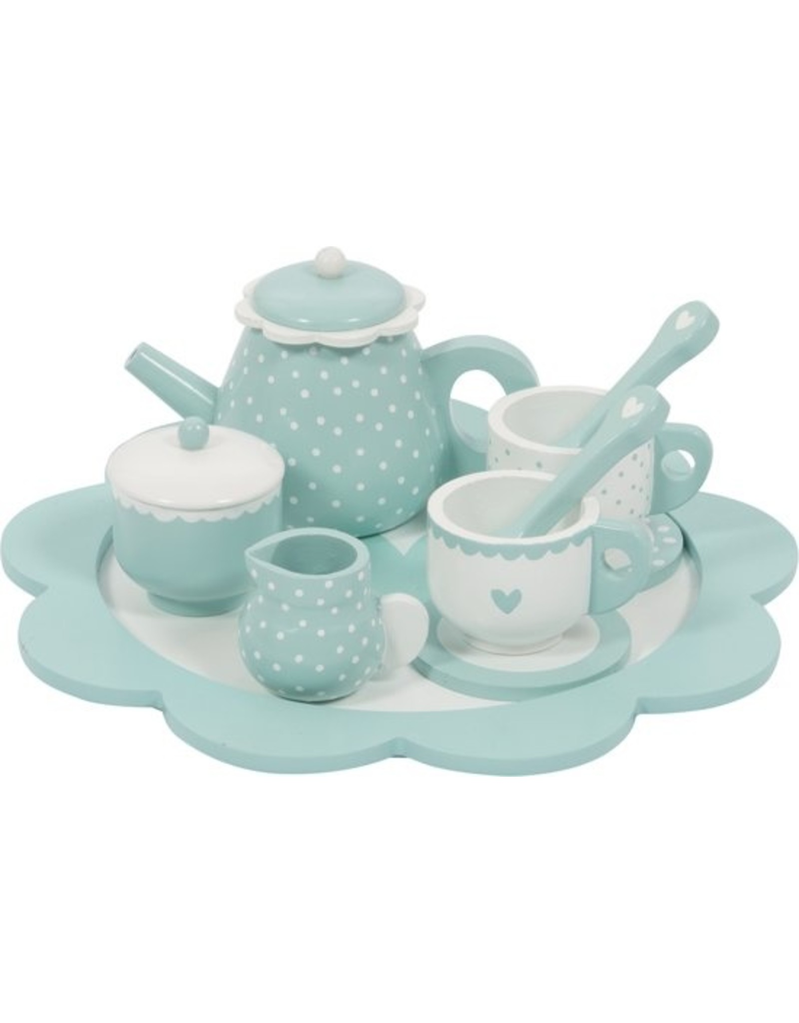 Theeservies Hout- Mint
