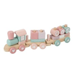 Little Dutch Little Dutch Blokkentrein Hout-Adventure Pink