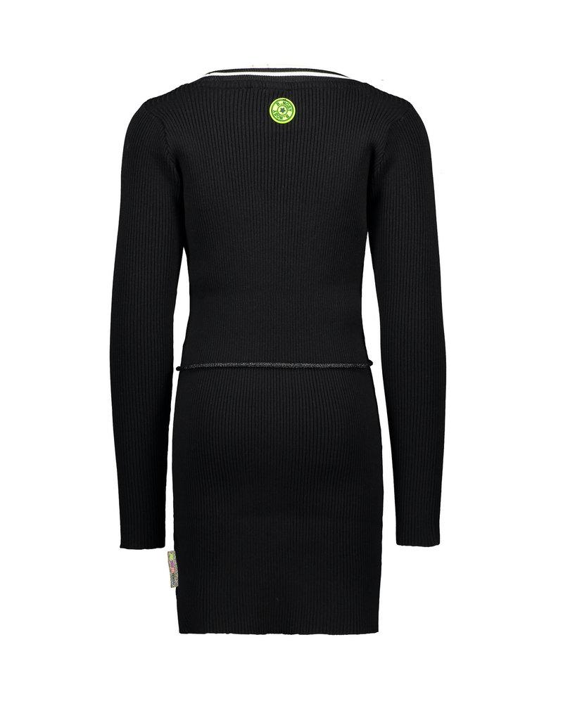 B.Nosy B.Nosy Girls Rib Dress with elastic in waist Black