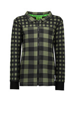 B.Nosy B.Nosy Boys Jersey all over printed check Blouse Check Leaf Green