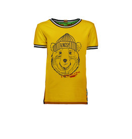 B.Nosy B.Nosy Boys short sleeve with Bear print Mars Yellow