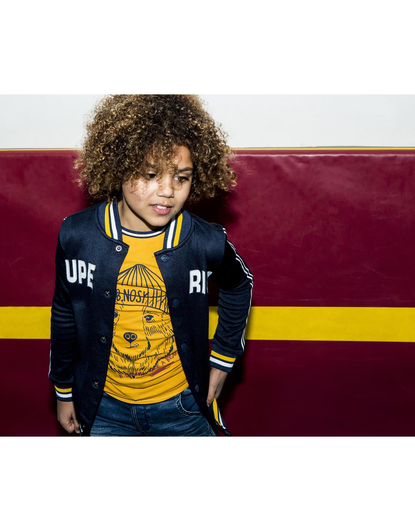 B.Nosy B.Nosy Boys short sleeve with Bear print Mars Yellow
