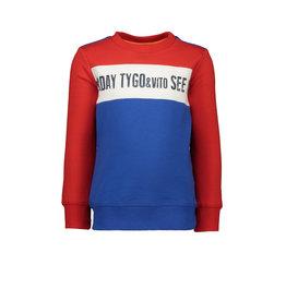 TYGO & Vito TYGO & Vito Sweater Solid cut & sewn See You Nexterday Red