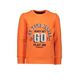 TYGO & Vito TYGO & Vito Sweater neon ON YOUR MARKS GO orange